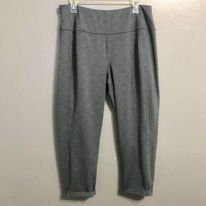 Lucy Gray Leggings Side Zip Cuffed 1X Activewear